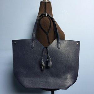 Neiman Marcus Pebbled Shoper Tote Bag